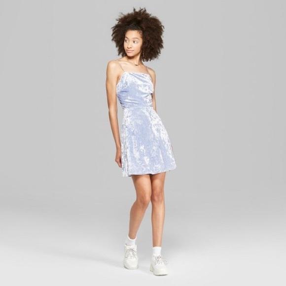 f166a6d36e2 Women's Strappy Blue Velvet Dress